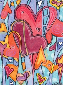 """4"""" x 6"""""""" watercolor / mixed media © Tanielle Childers"""
