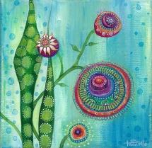 "7"" x 7"" acrylic on canvas © Tanielle Childers"