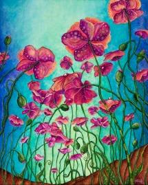 "16"" x 20"" acrylic on panel © Tanielle Childers"