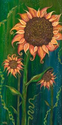 "12"" x 24"" acrylic on canvas © Tanielle Childers"